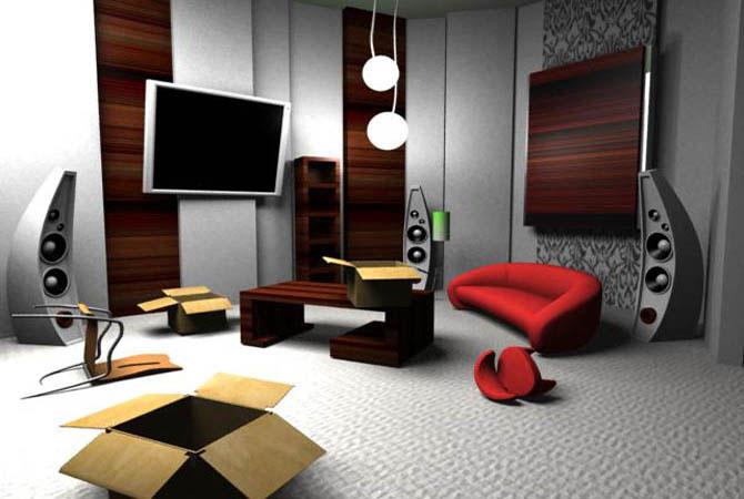 дизайн комнаты потолок балка