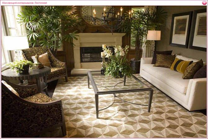 дизайн гостинных комнат в интерьере