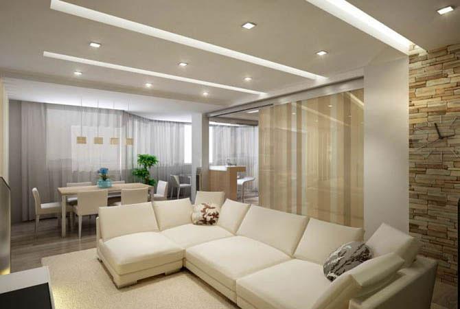 дизайн гостиной в типовой квартире