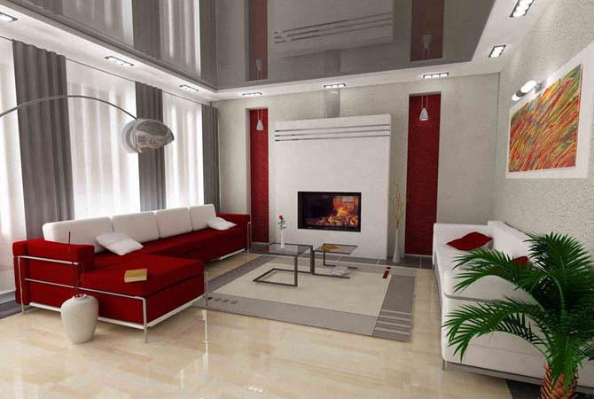 камин в интерьере описание квартиры