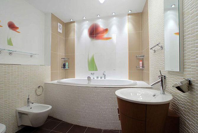 вариант дизайна интерьера ванной комнаты