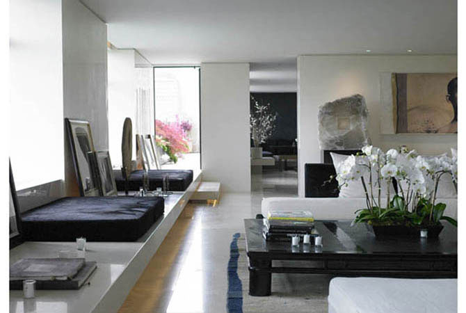 дизайн кухя и комната совмещены