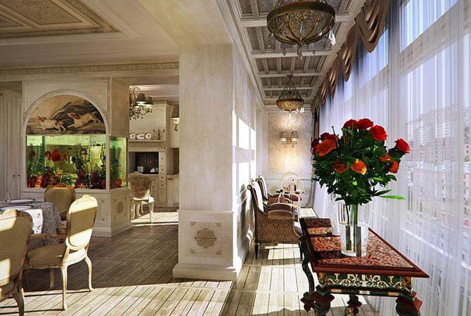 фото интерьера квартир отделанным декоративным камнем