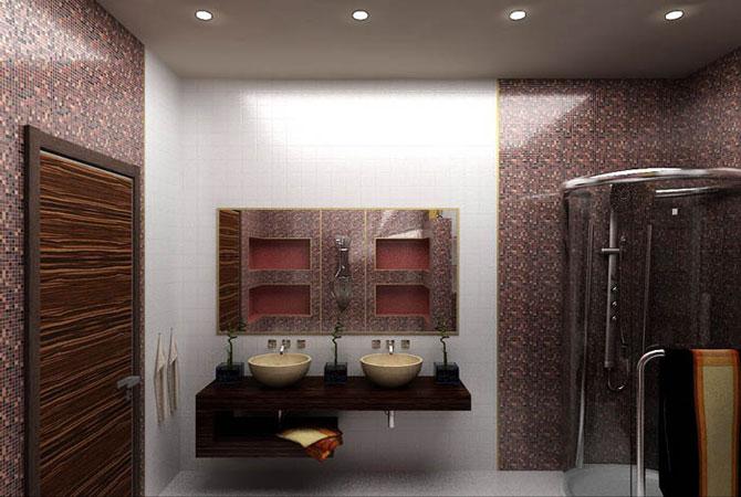 дизайн обоев для ванных комнат