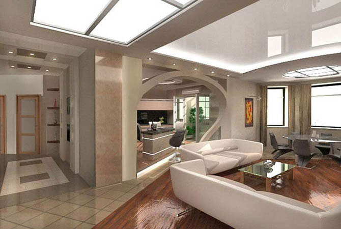 оформление интерьера комнат с помощью разных красок