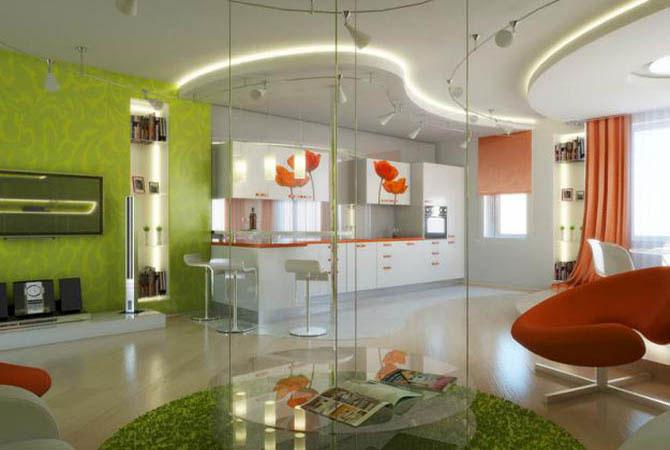 дизайн потолков квартиры в фотографиях