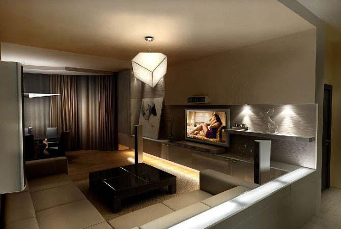 дизайн интерьера квартиры потолок