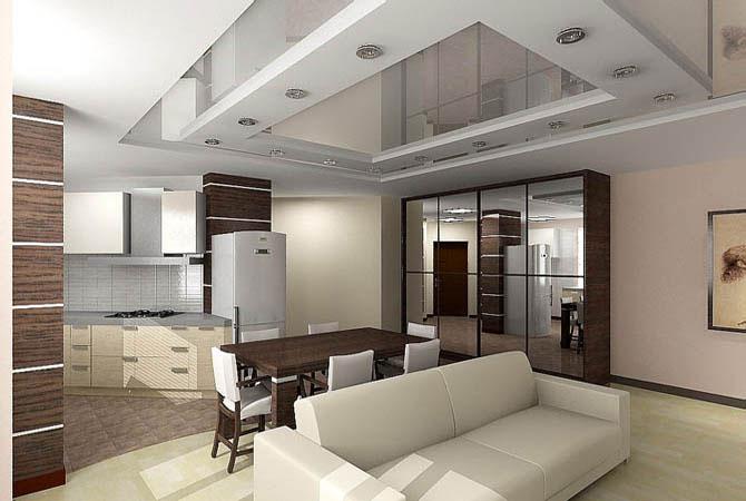 дизайн проект 3-х комнатных квартир