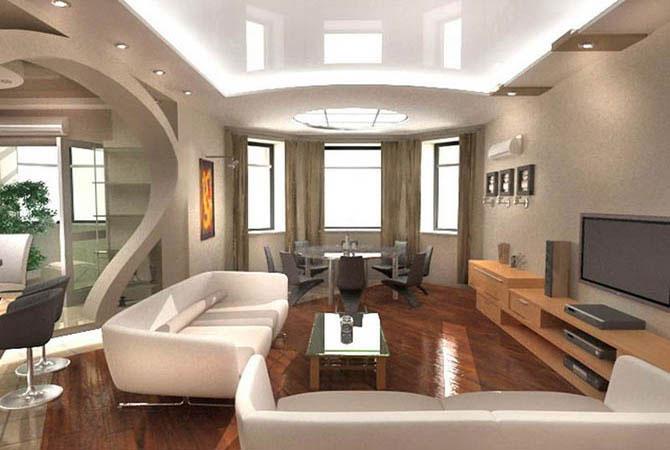 дизайн интерьеров однокомнатной квартиры