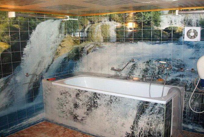 фото интерьера ванной комнаты с большой ванной