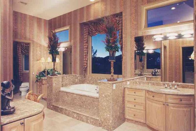 ретро дизайн ванных комнат