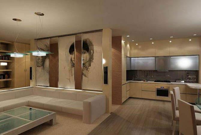 образцы дизайн однокомнатных квартир
