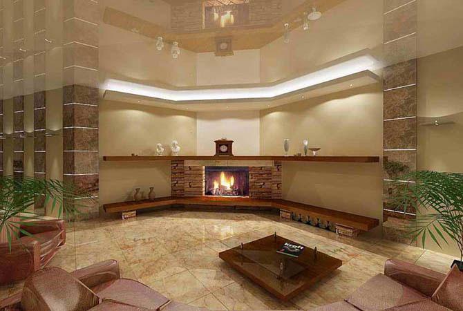 интерьер в деревянных домах освещение