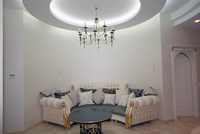 дизайн стен для гостинных комнат