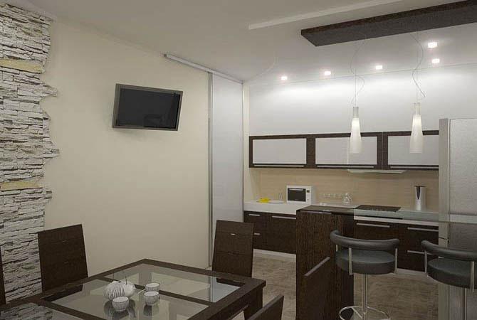 дизайн квартир кухня гостиная