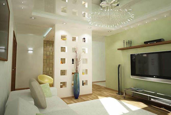 дизайн проект и-155 трех комнатная квартира