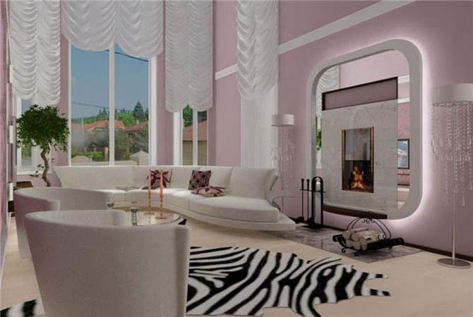 мода на стены в интерьере дома