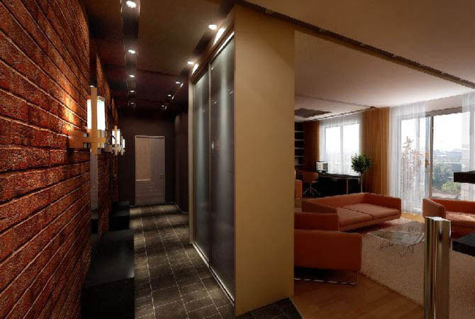 дизайн малогабаритных квартир комбинирование обоев