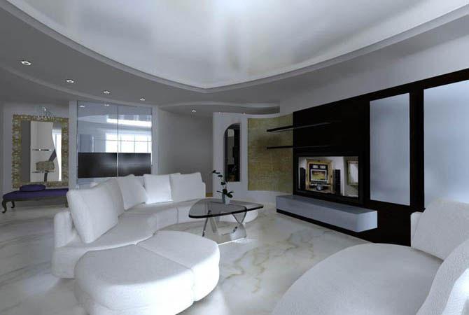 дизайн и отделка квартир камнем