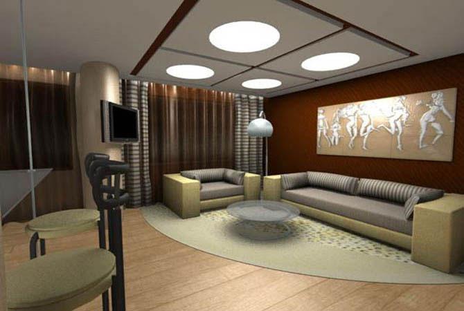 фото дизайн комнаты кухни коридора