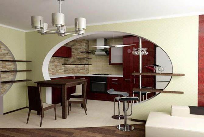 дизайн интерьера комнаты кухня