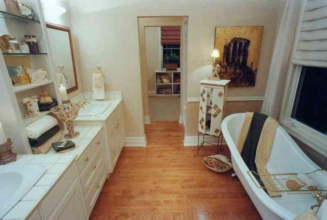 отделка стеновыми панелями ванных комнат