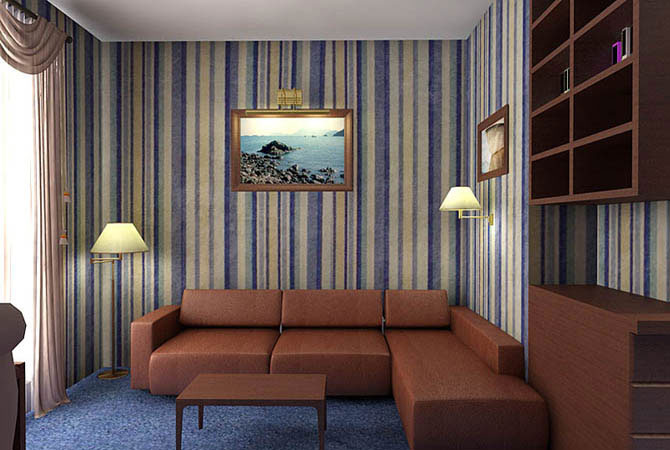дизайн квартиры сиреневом цвете