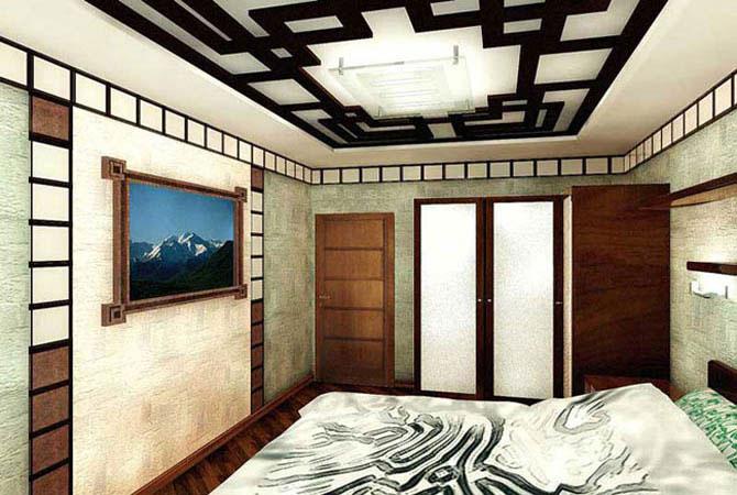 интерьер комнаты черно-белый цвет