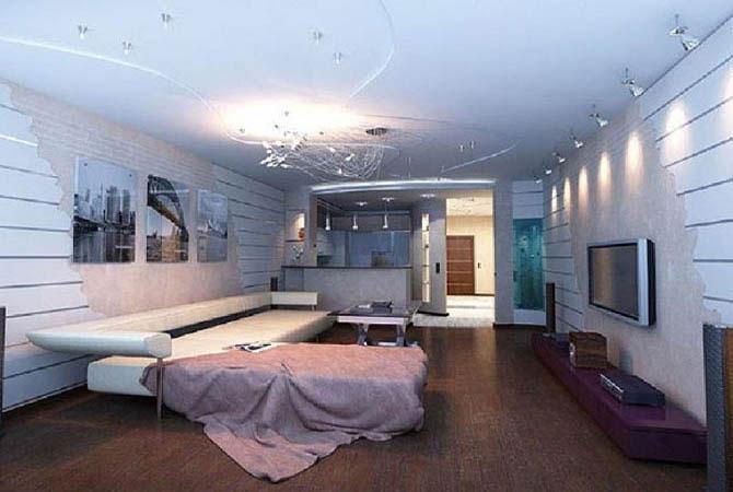 дизайн квартиры с искусственным декоративным камнем